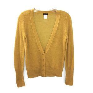 J. Crew Mustard Yellow Knit Button Up Cardigan